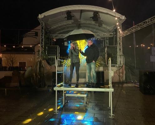 Weihnachtszauber 2019 Eröffnung Sängerin Nadin Heil