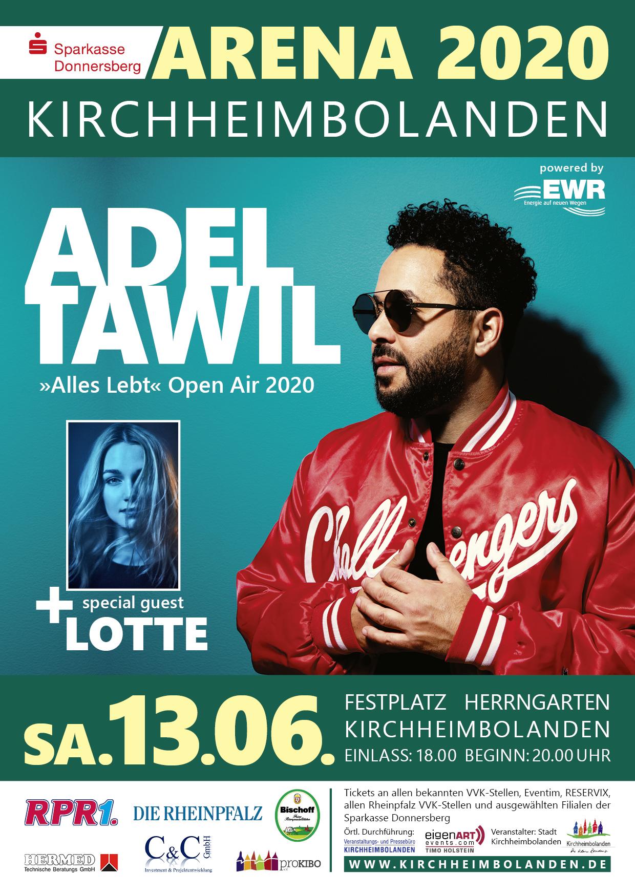 ADEL TAWIL & Lotte in Kirchheimbolanden ARENA 2020 präsentiert von proKIBO e.V.