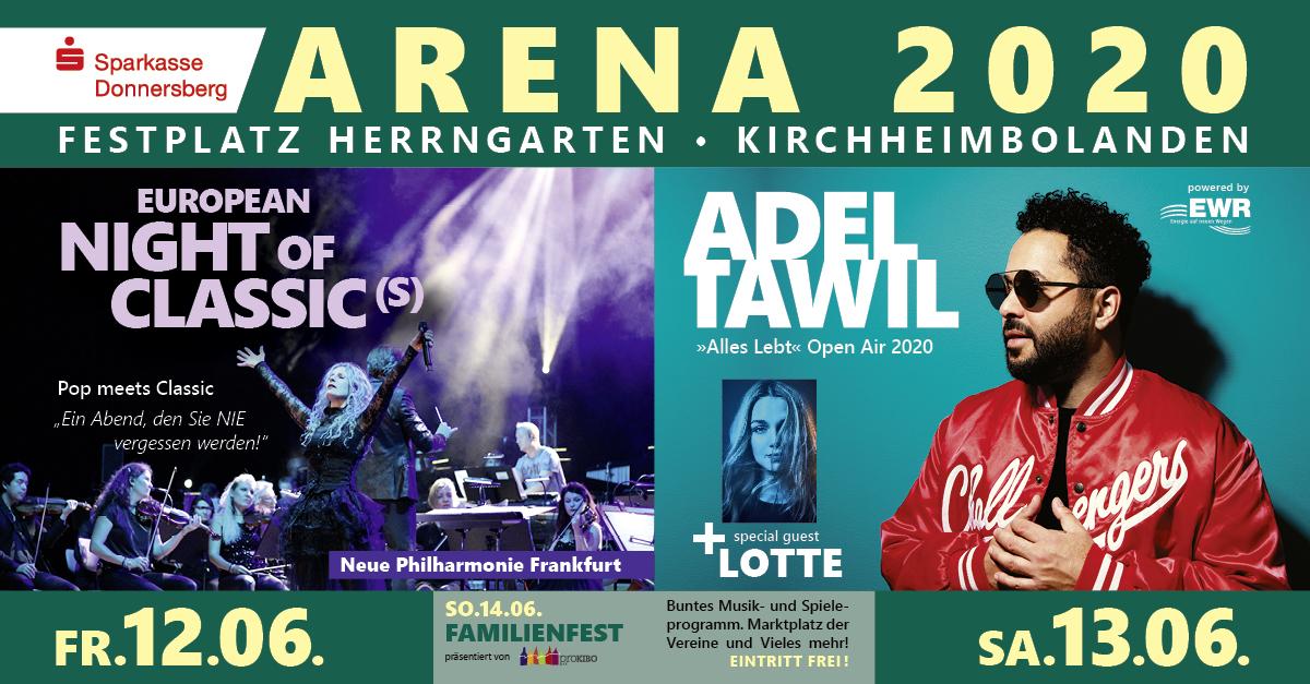 ARENA 2020 Festplatz Herrengarten Kirchheimbolanden präsentiert von proKIBO e.V.