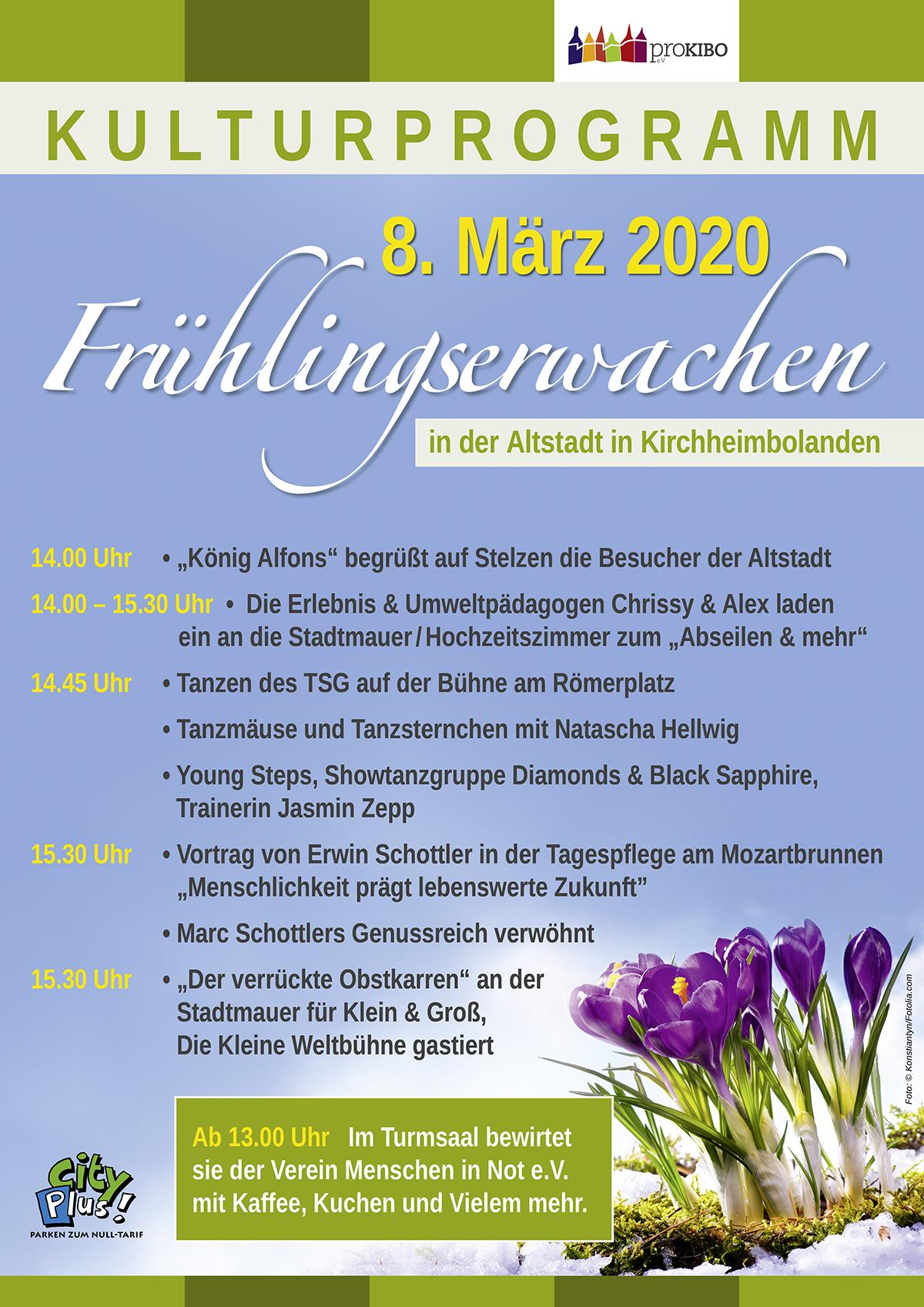 Kulturprogramm Frühlingserwachen 2020 in Kirchheimbolanden