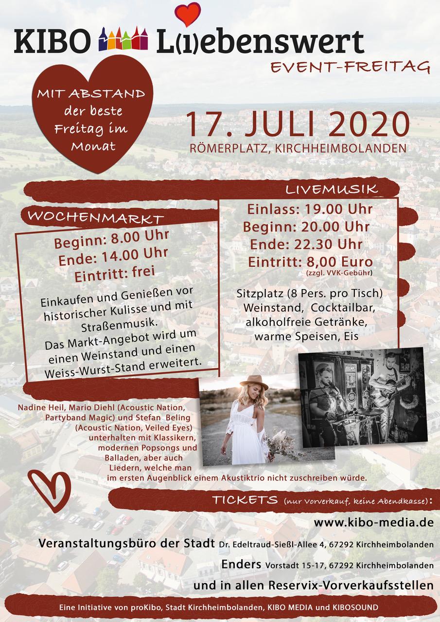 KIBO Liebenswert auf dem Römerplatz in Kirchheimbolanden am 17.07.2020 präsentiert von proKIBO e.V.