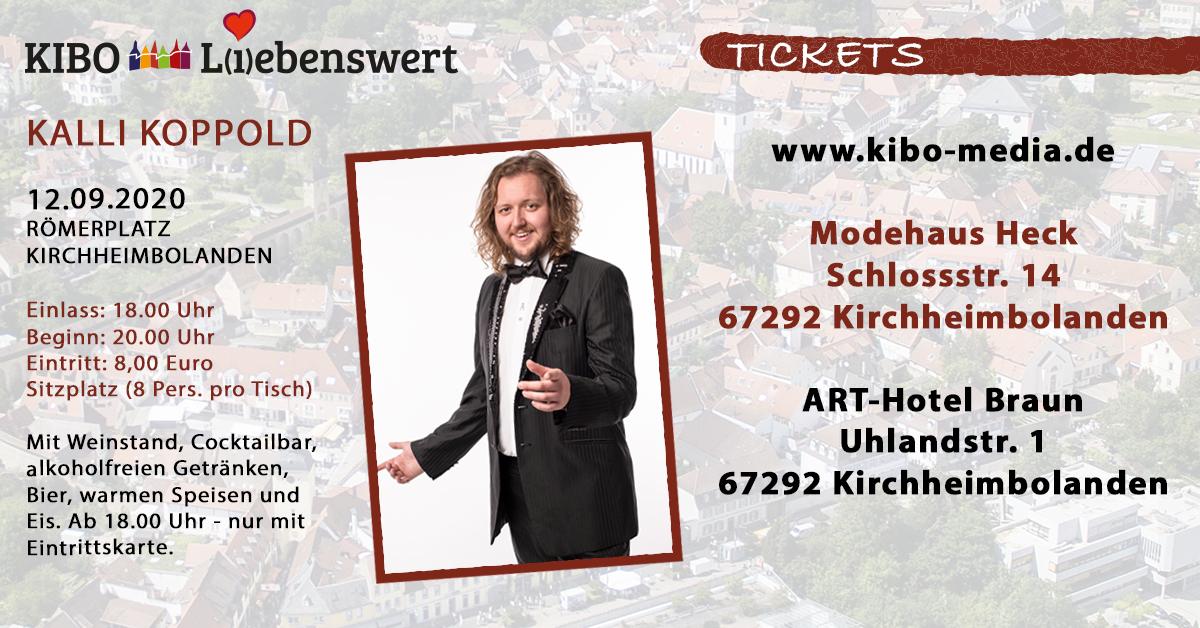 Kalli Koppold bei KIBO Liebenswert auf dem Römerplatz in Kirchheimbolanden 12.09.2020 präsentiert von proKIBO e.V.
